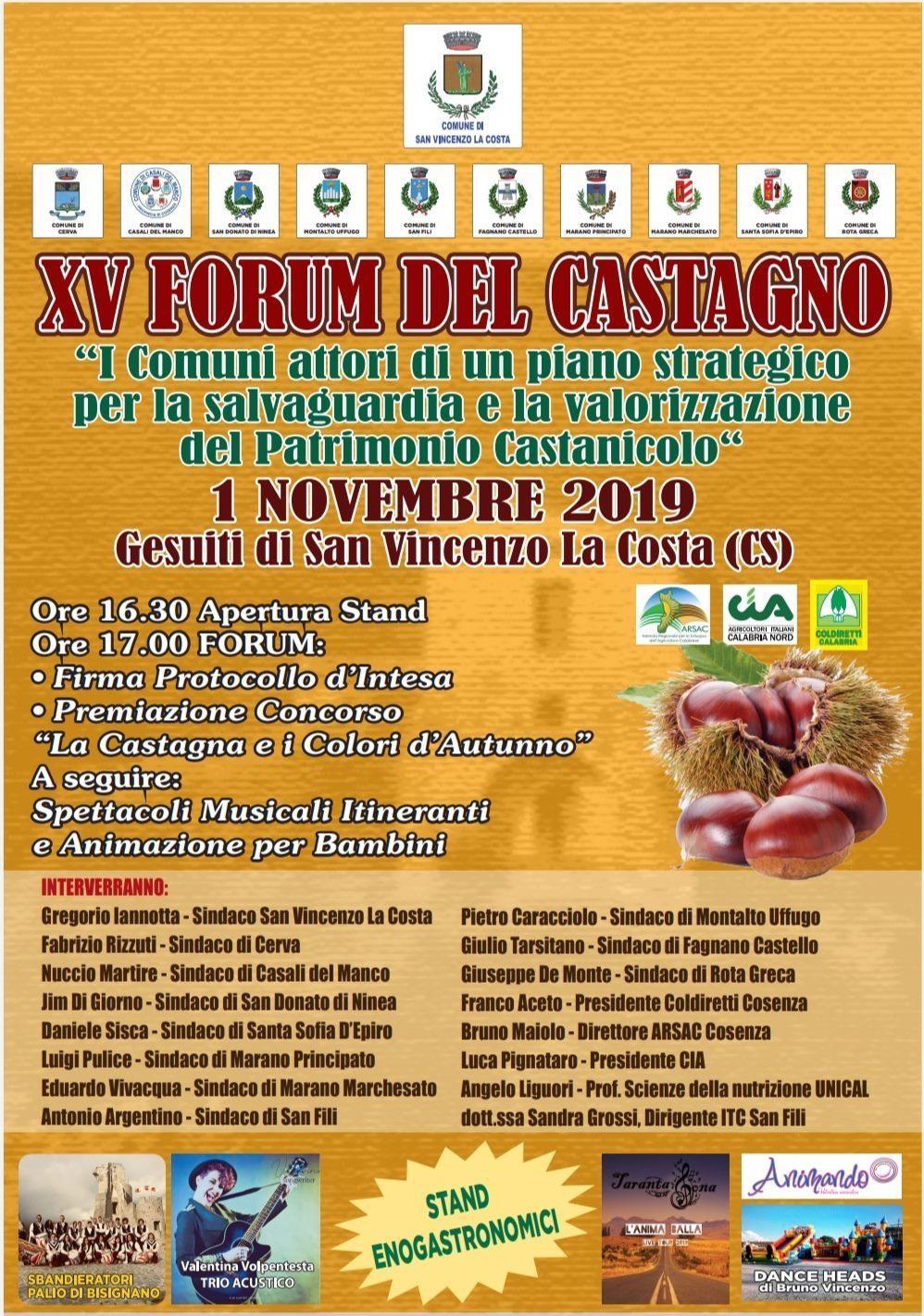 """San Vincenzo La Costa – """"XV Forum del Castagno"""""""